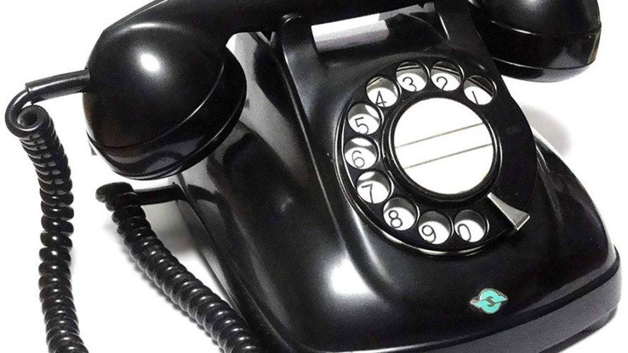 ダイヤル式黒電話4号