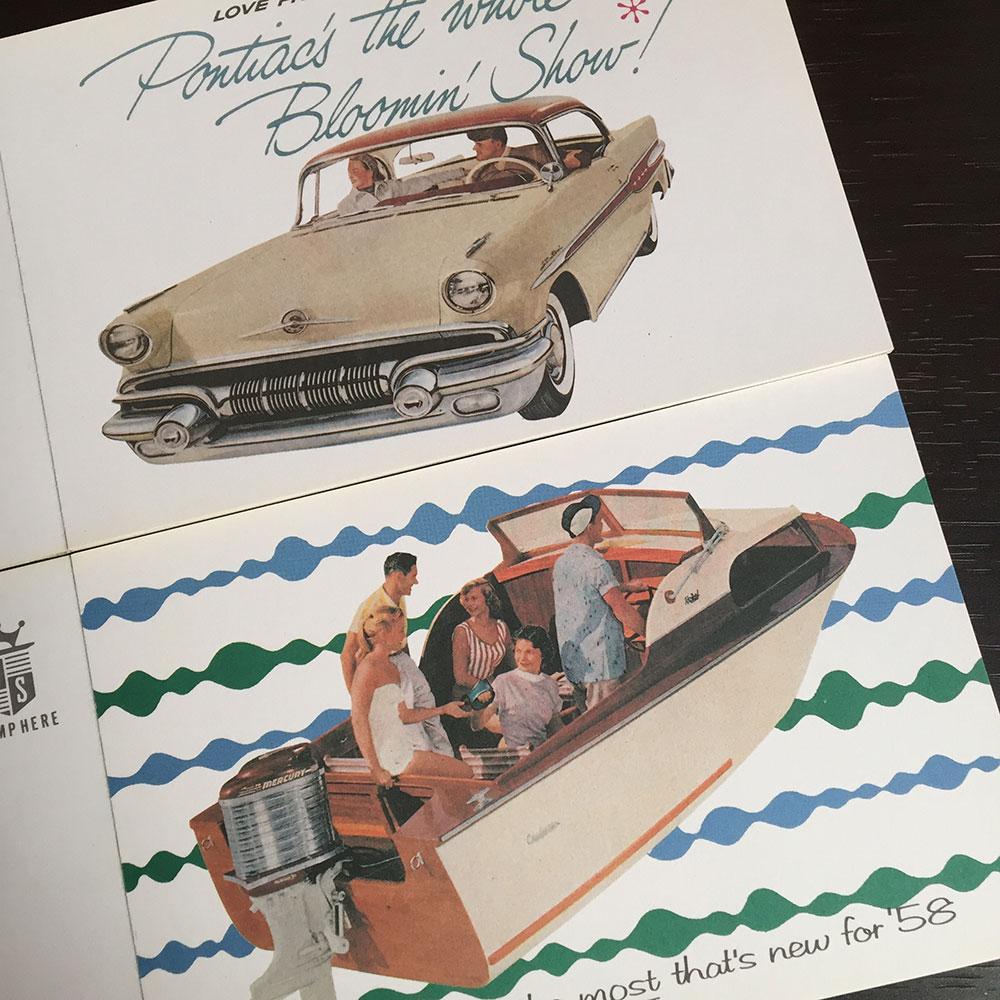 1960年前後のアメリカのレトロなポストカード