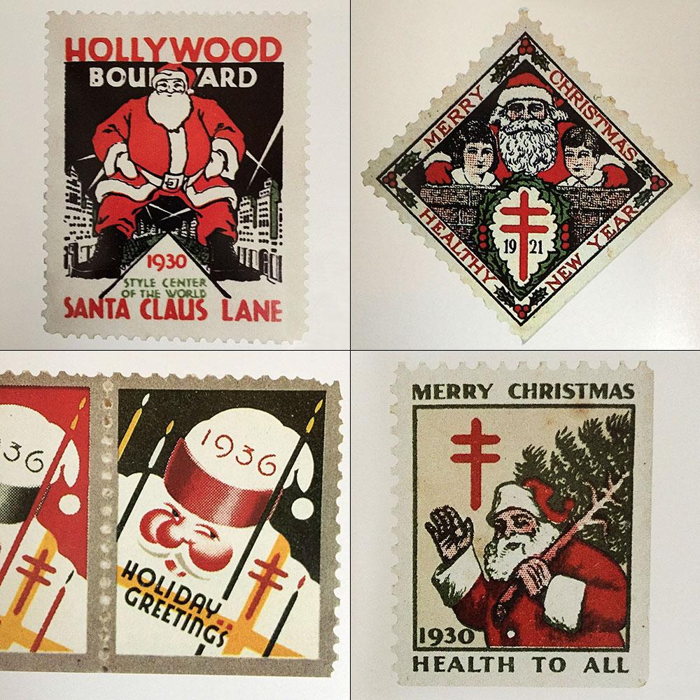 サンタクロースバージョンの切手