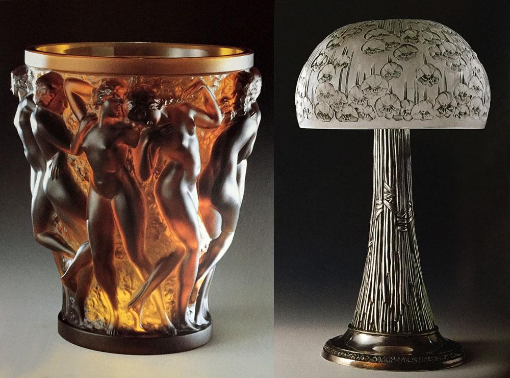 ルネ・ラリックの花瓶とスタンド