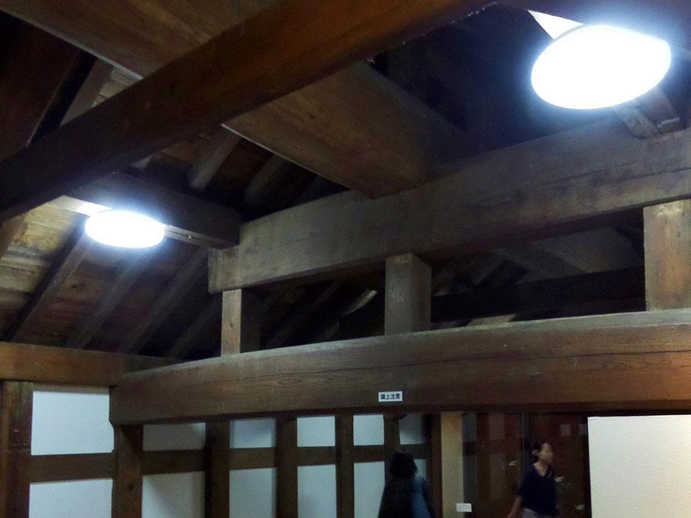 「木組み」屋根部分