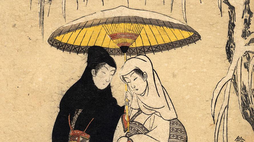 「相合い傘」は日本にのみ見られる文化だった
