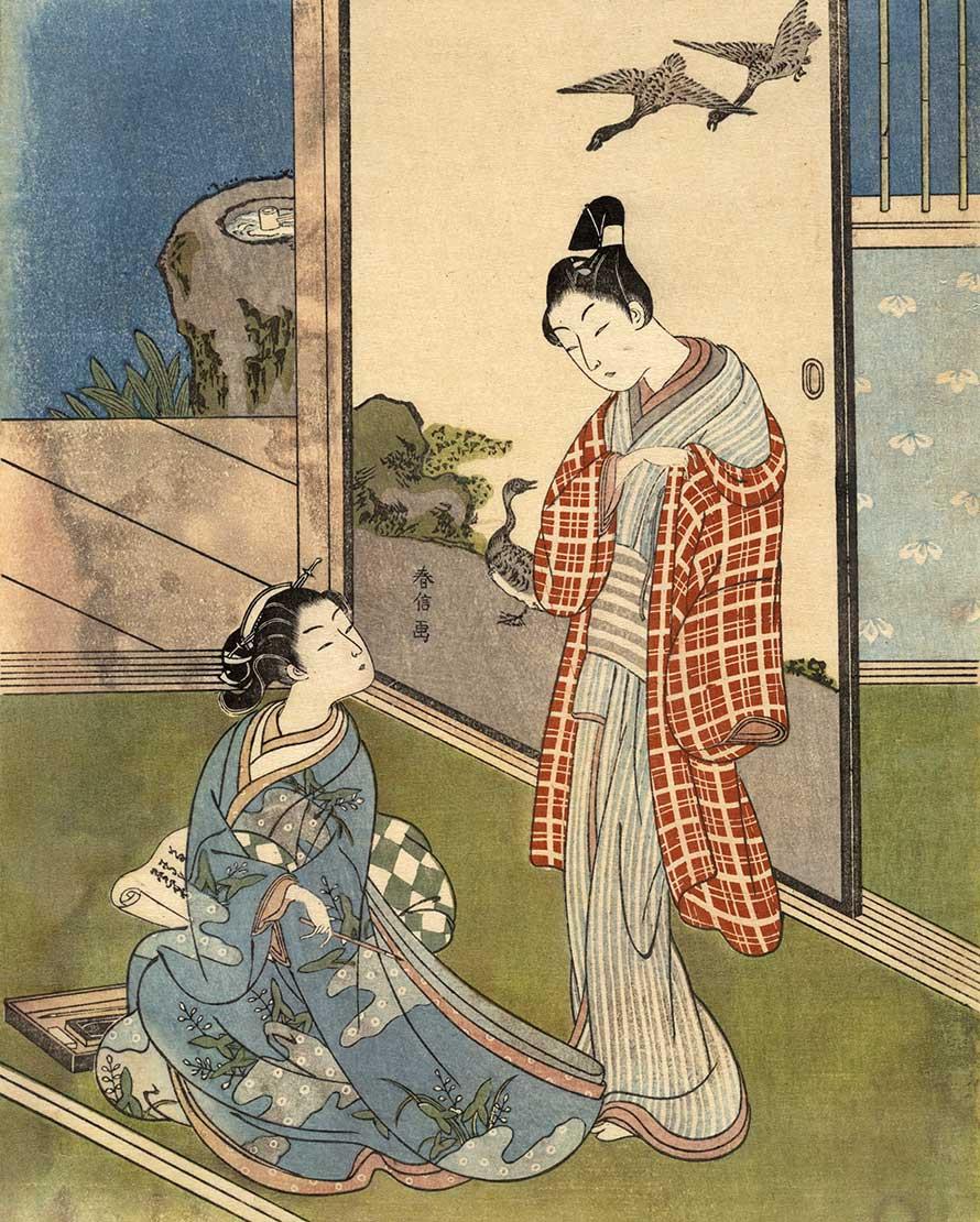 鈴木春信、浮世絵