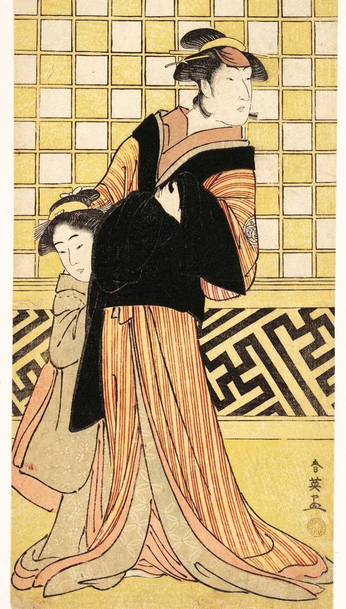 勝川春章 作、浮世絵