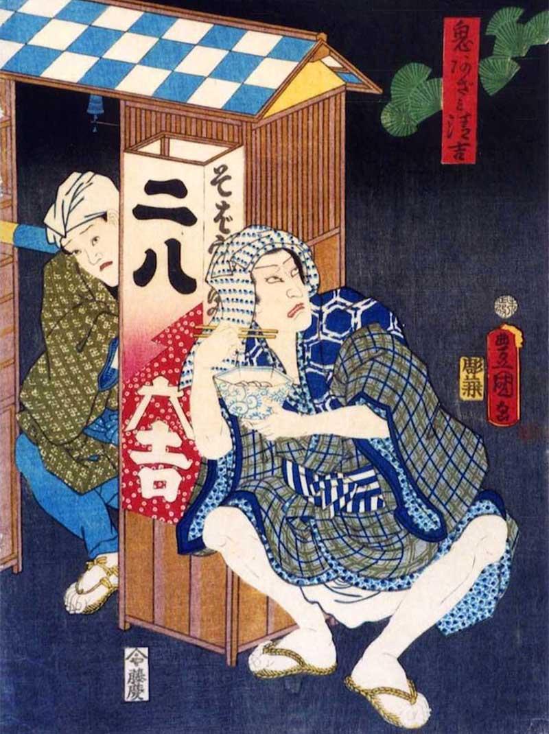 江戸時代の蕎麦屋の屋台