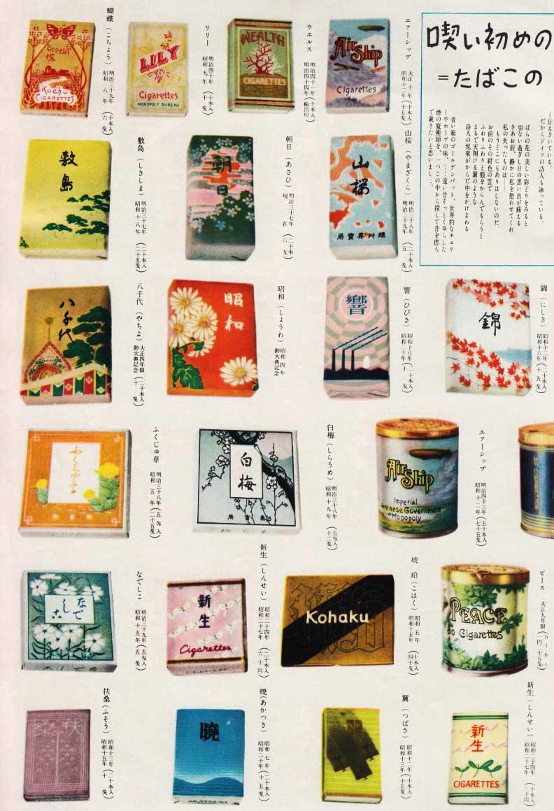 1954年の雑誌より、日本のタバコパッケージデザイン