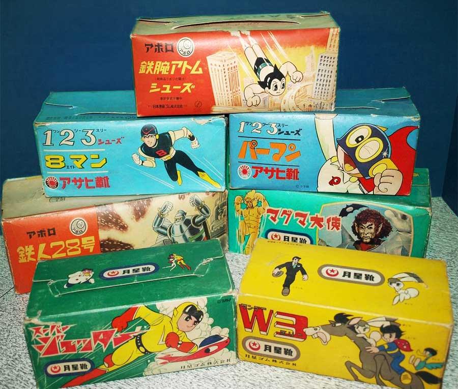 1960年代のアニメパッケージの子ども用シューズ