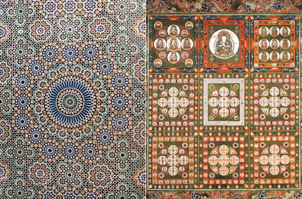 モザイク模様と曼荼羅