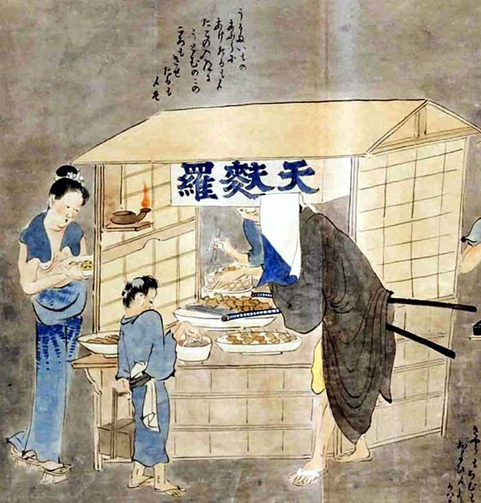 江戸時代の天ぷら屋台