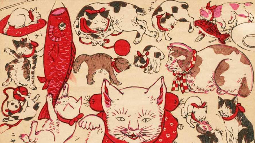 浮世絵から見る、守り神にも妖怪にもなった「猫」