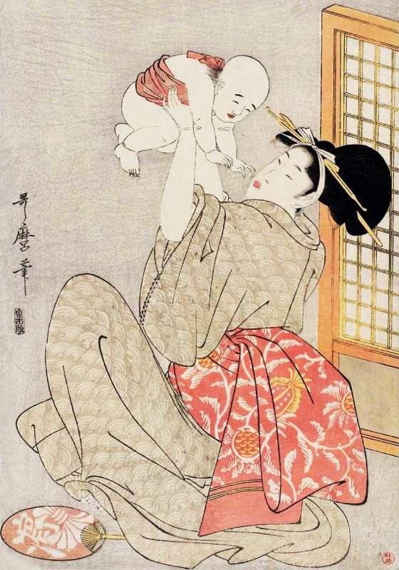 高い高い 喜多川歌麿 画
