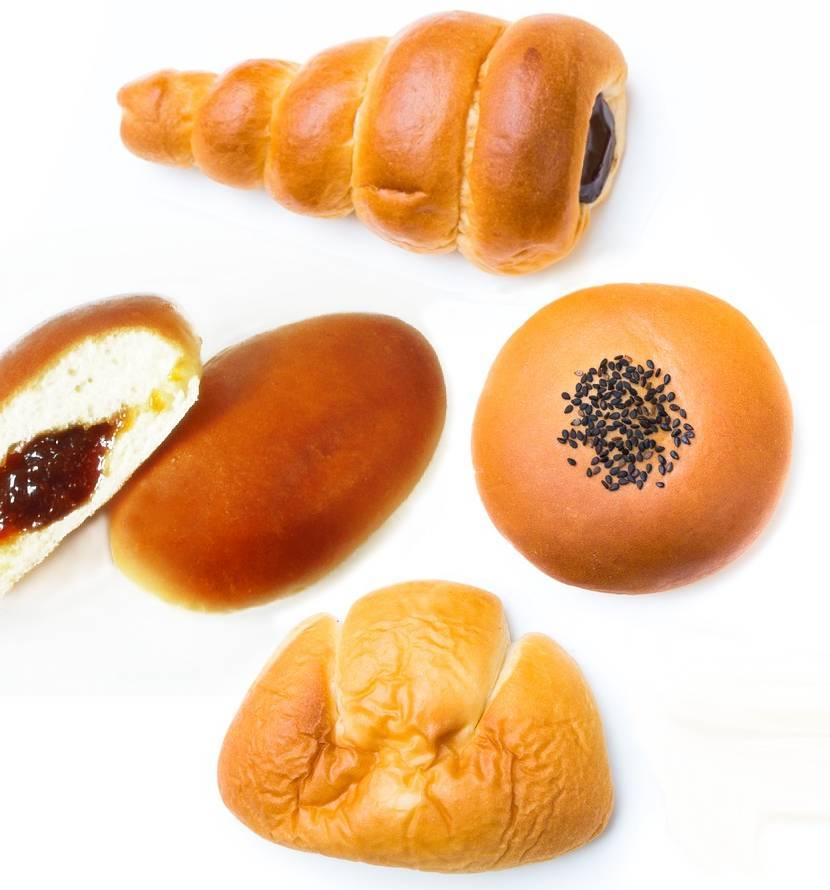 チョココロネ、杏子パン、アンパン、クリームパン