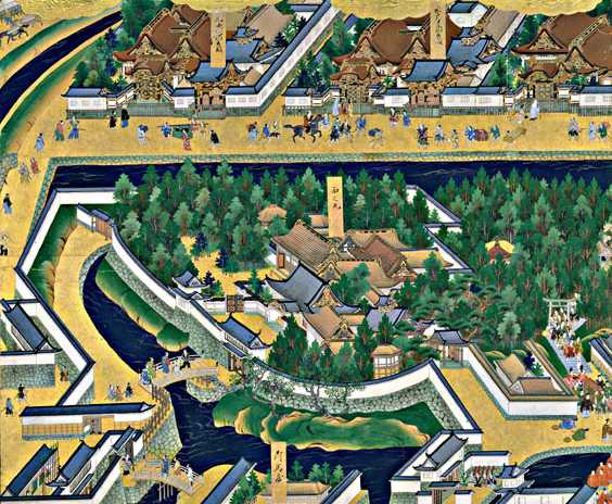 「江戸図屏風」に描かれている西ノ丸御殿。