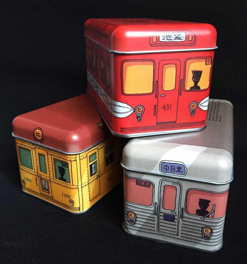 旧営団地下鉄の車両を模した「クッキー電車缶」