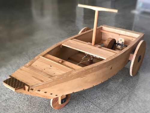 「新製陸舟奔車(しんせいりくしゅうほんしゃ)」復元車