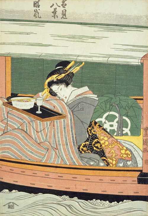 「雪見八景 晴嵐」歌川豊国(初代) 画