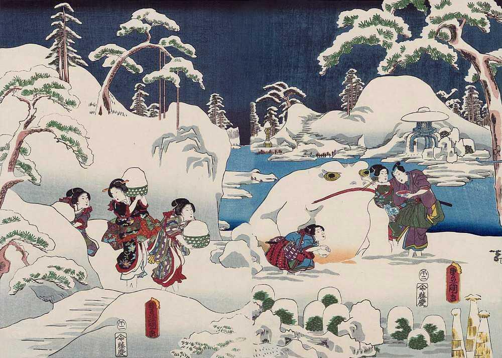 「源氏十二ヶ月之内 雪見月」歌川国貞 画(1858年)出典:ボストン美術館