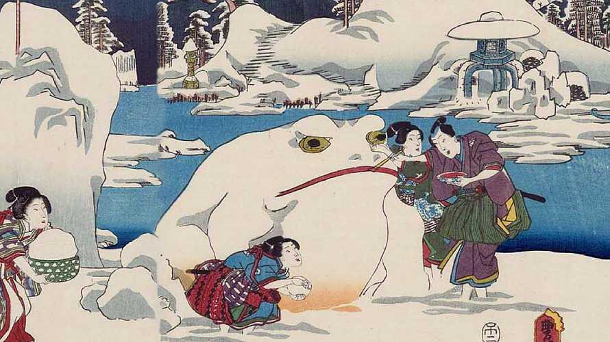 雪を思いっきり楽しんでいた「雪見」という行事