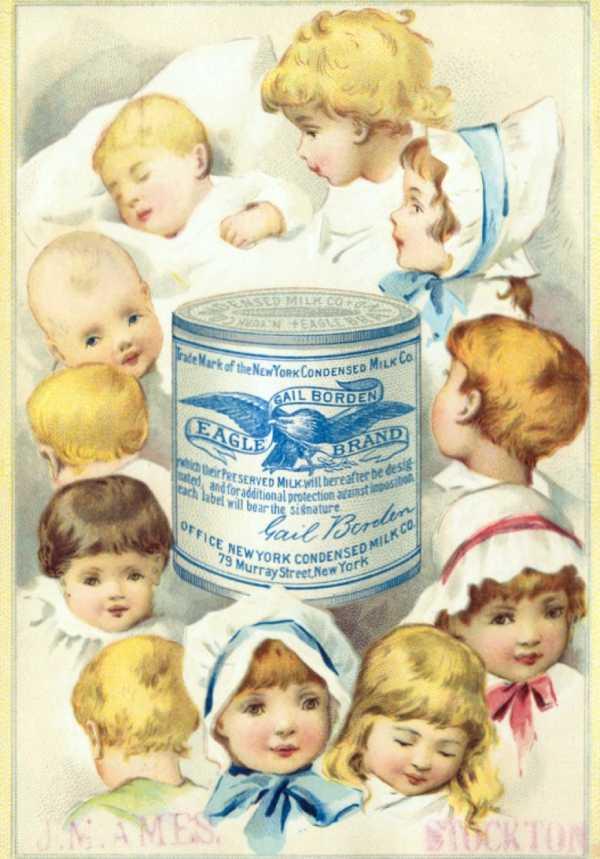 「ゲイルボーデンイーグルブランド練乳」広告
