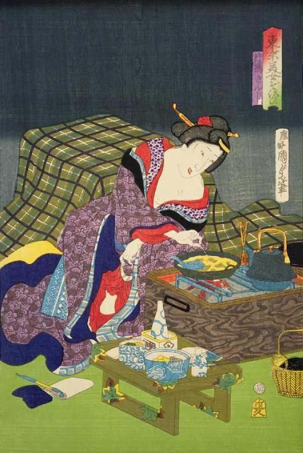 「東京美女そろひ 柳橋きんし」二代歌川国貞 画