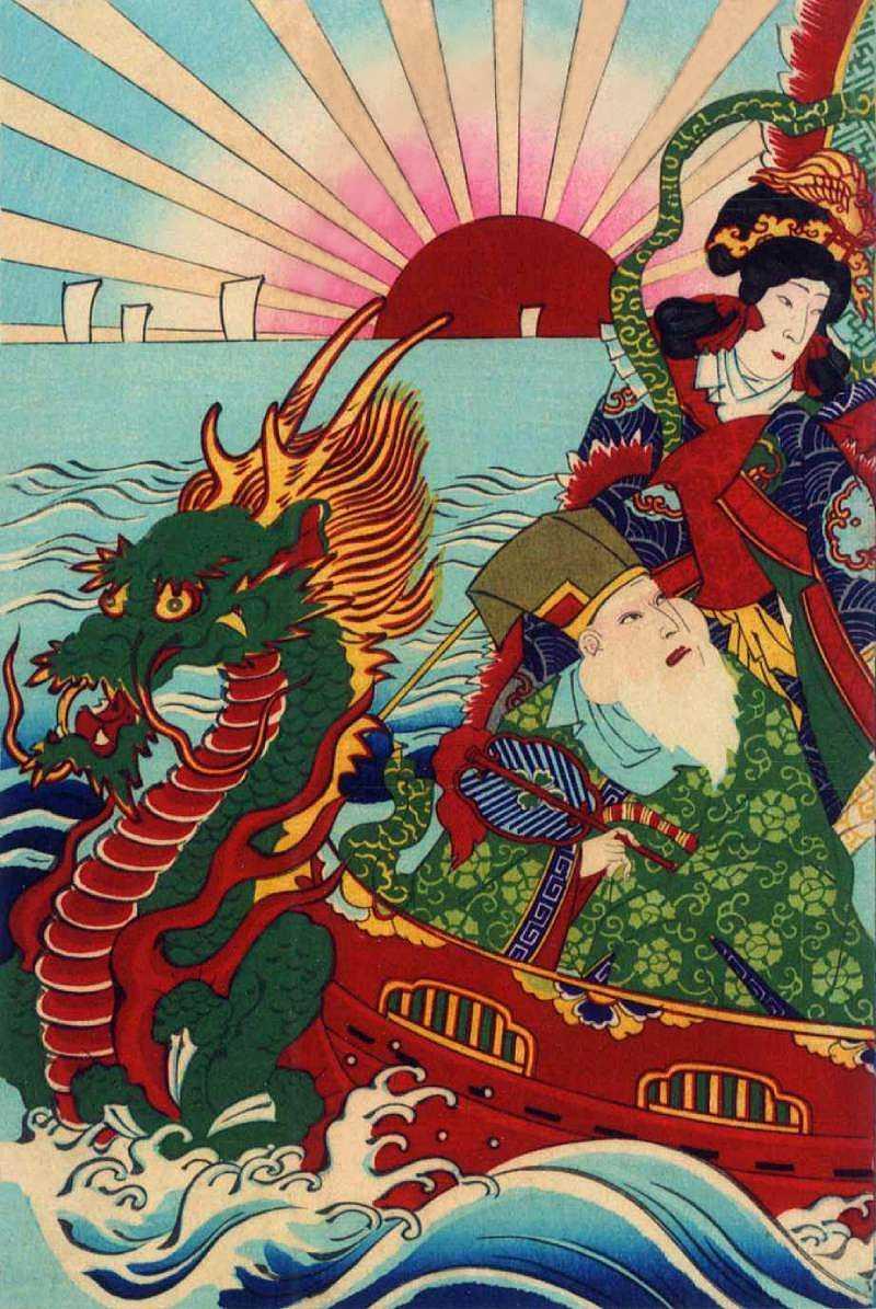 「七福神恵方入船(一部)」歌川国貞三代 画