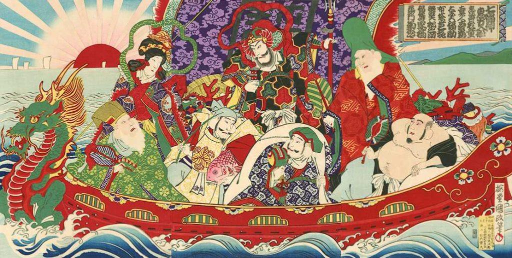 「七福神恵方入船」歌川国貞三代 画