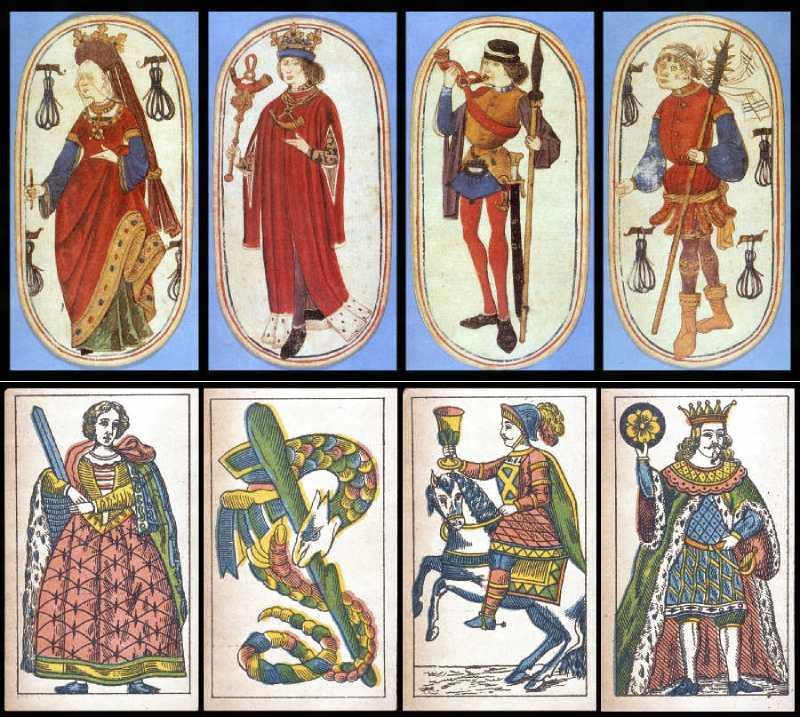 フランスの15世紀、ポルトガルの19世紀カード