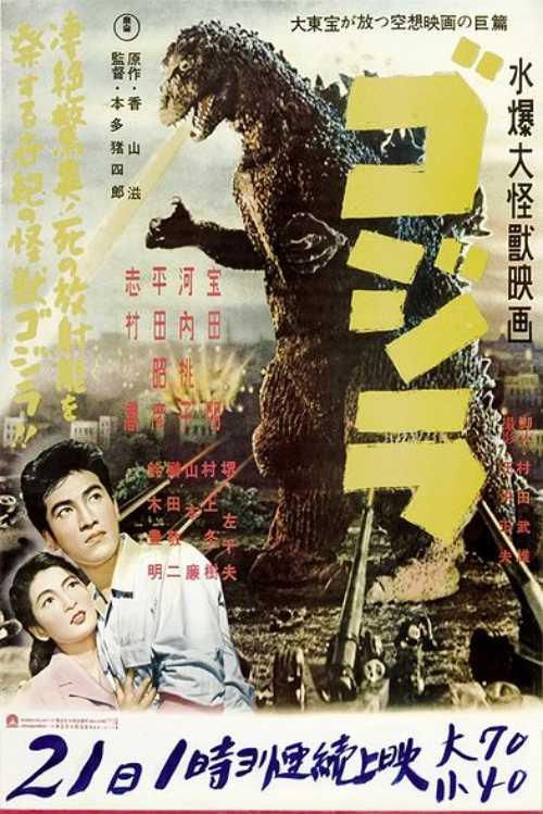 1954年ゴジラの映画ポスター
