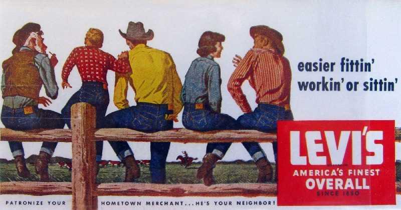 1950年代のLevi'sジーンズ広告