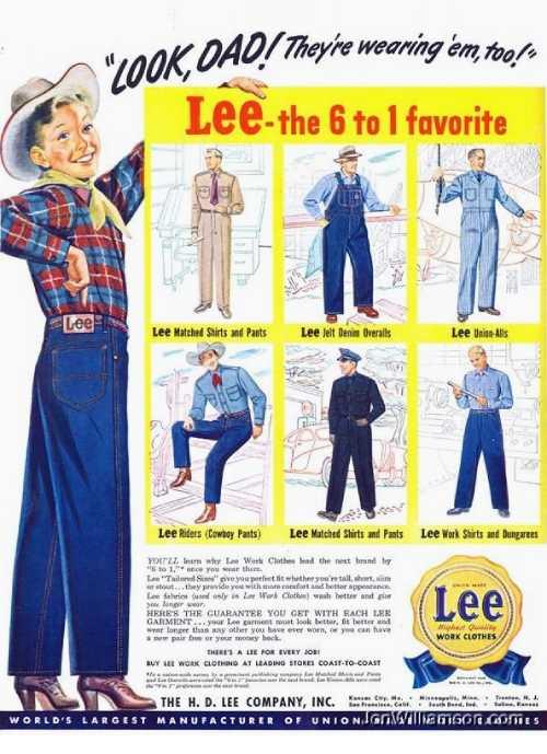 1950年代のLeeジーンズ広告