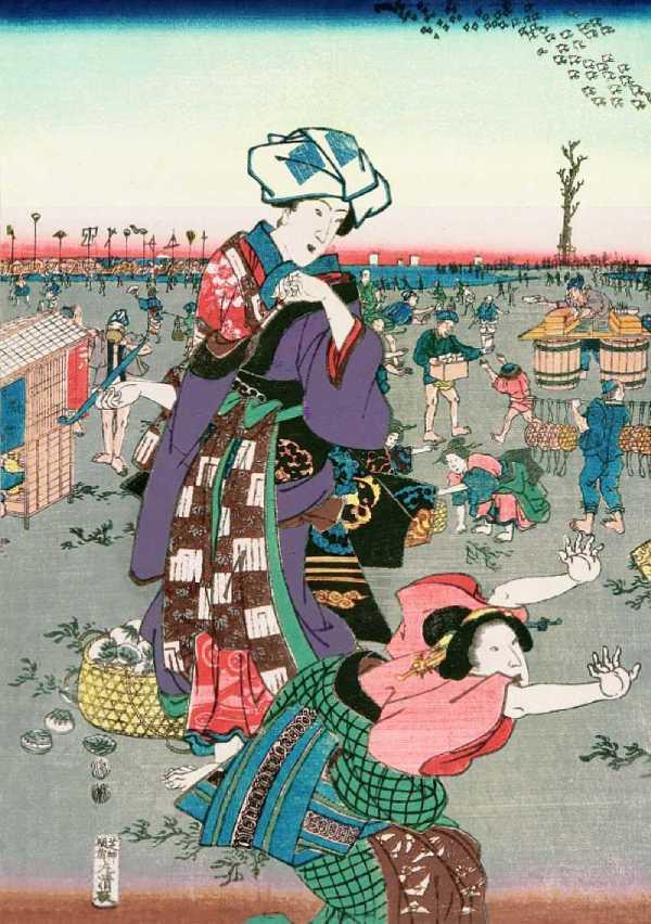 「汐干狩図(左部分)」歌川貞秀 画