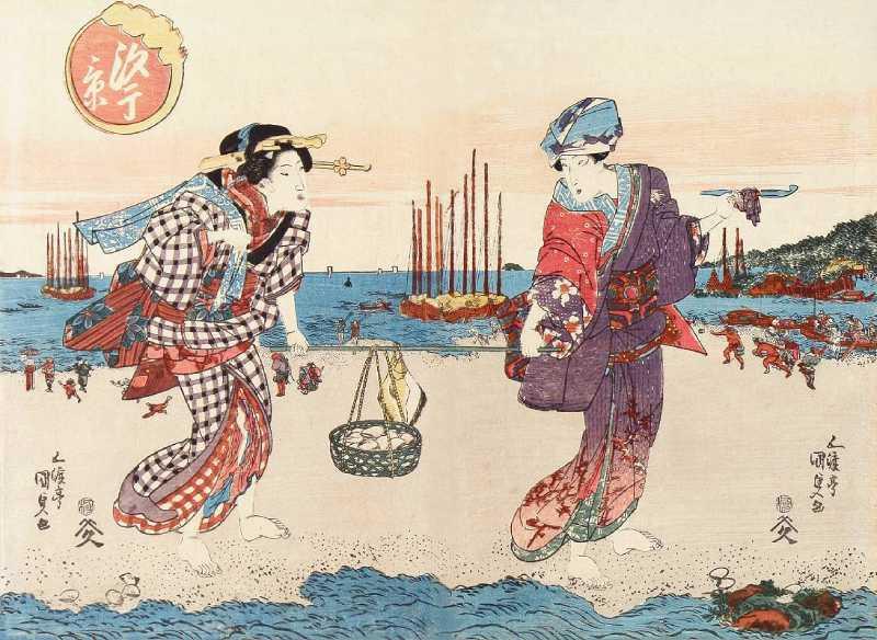 「汐干景(一部)」歌川国貞 画