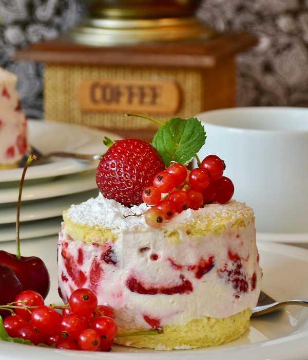 アメリカ式のショートケーキ