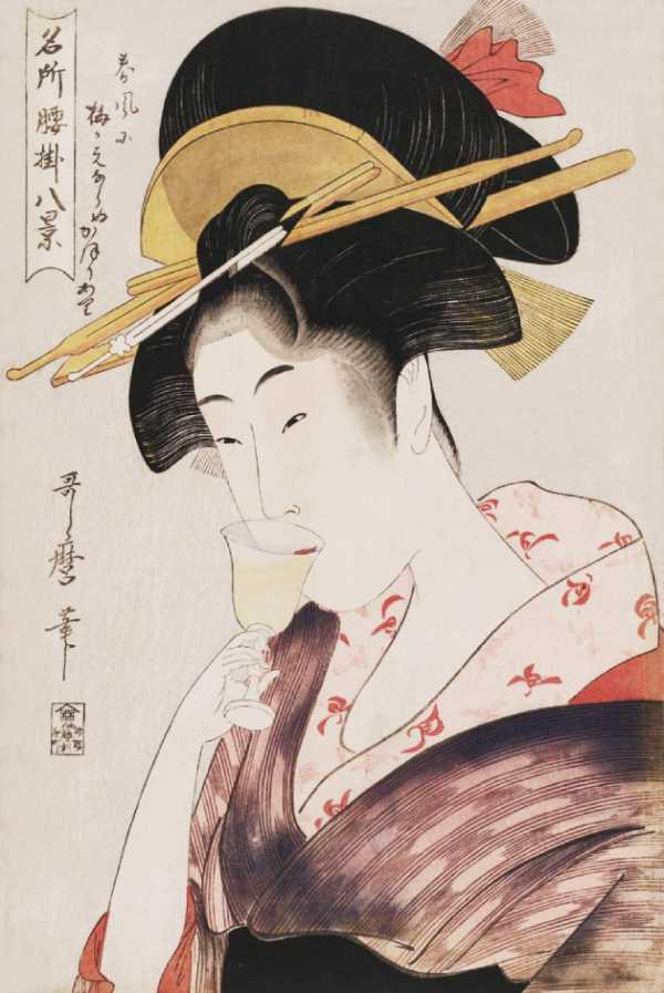「名所腰掛八景」喜多川歌麿 画