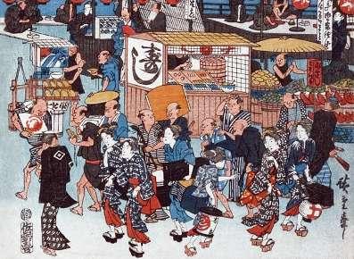 「東都名所高輪廿六日夜待遊興之図」歌川広重(初代) 画