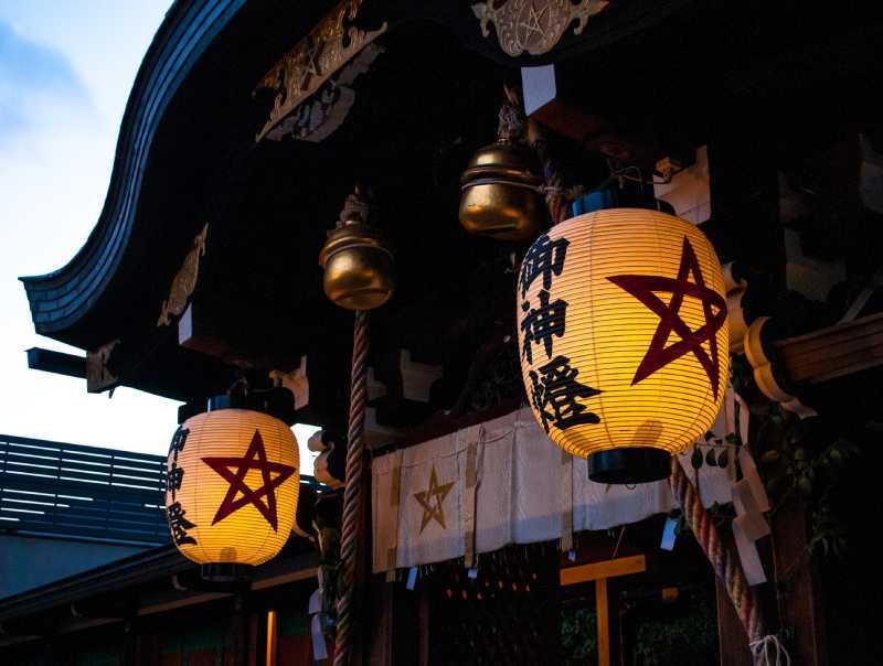 晴明神社の五芒星