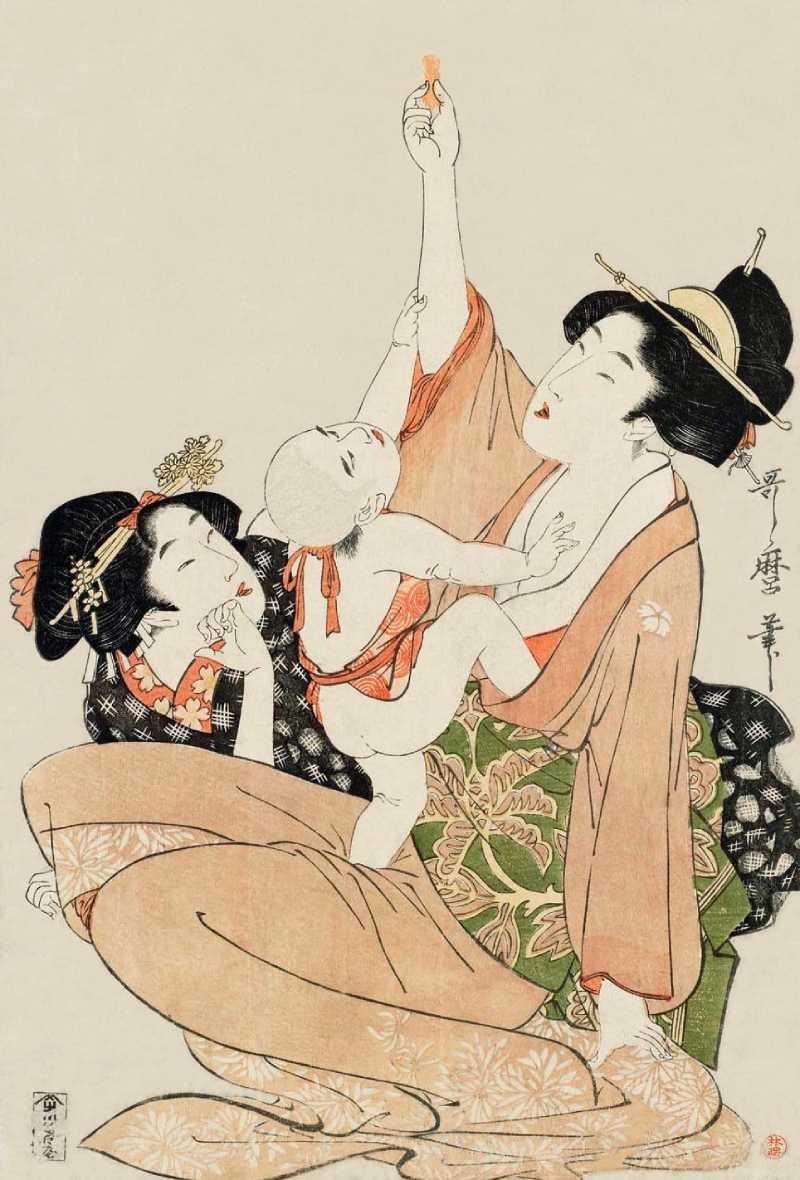 「ほふづき」喜多川歌麿 画