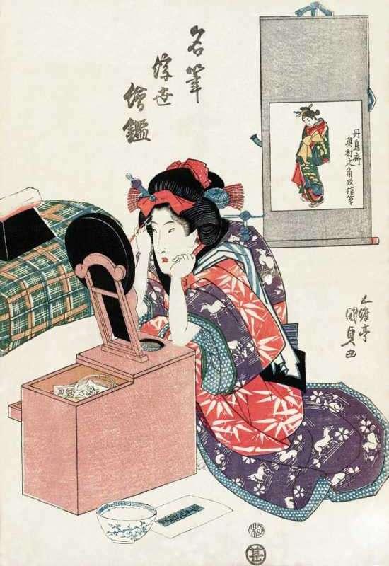 「名筆浮世絵鏡」歌川国貞 画