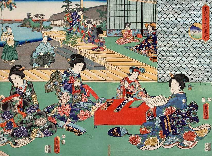「若紫年中行事の内 文月」歌川国芳 画