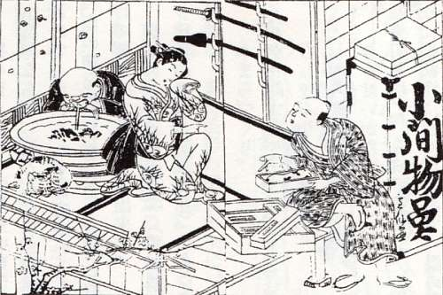 江戸時代の小間物屋