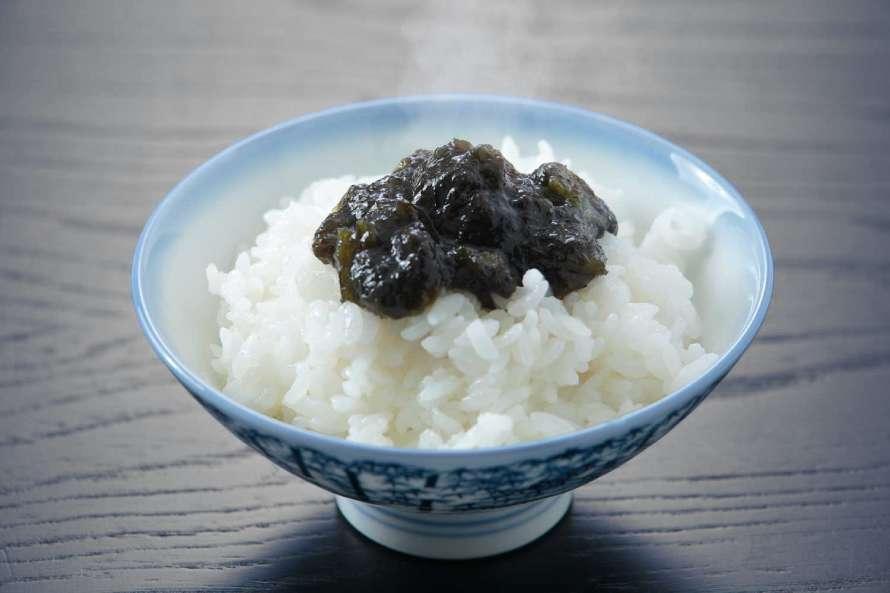 ご飯と海苔の佃煮