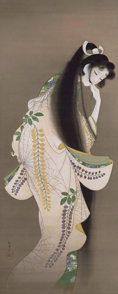 「焔(ほのお)」上村松園 画